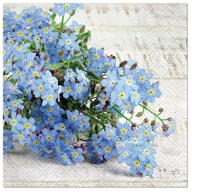 Servietten 33x33 cm - Forget-me-not