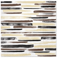 Servietten 33x33 cm - Watercolor Stripes BROWN