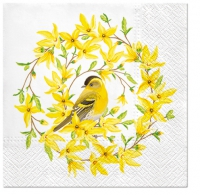 Servietten 33x33 cm - Forsythia & Bird