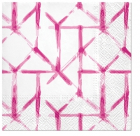 Servietten 33x33 cm - Watercolor Grid (pink)