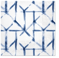 Servietten 33x33 cm - Watercolor Grid (blue)
