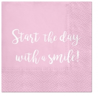 Servietten 33x33 cm - Smile Everyday