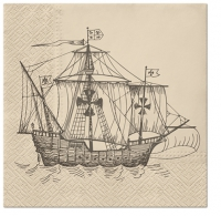 Servietten 33x33 cm - Sailing Ship