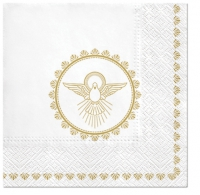 Servietten 33x33 cm - Christening Dove