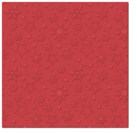 Servietten 33x33 cm - Inspiration Winterflocken (rot)