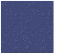 Servietten 33x33 cm - Inspiration Winter Flakes (navy blue)