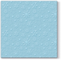 Servietten 33x33 cm - Inspiration Winter Flakes (turquoise)