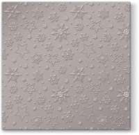 Lunch Servietten Inspiration Winter Flakes (warm grey metallic)