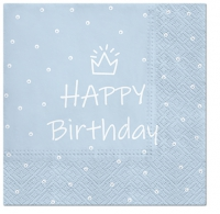 Servietten 33x33 cm - Special Day (light blue)