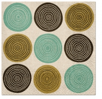 Servietten 33x33 cm - We Care Tribal Pattern (mint)