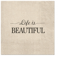 Servietten 33x33 cm - We Care Beautiful Life