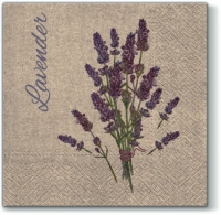 Servietten 33x33 cm - We Care Lavender for You