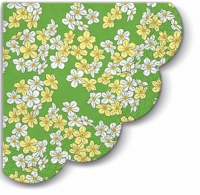 Servietten - Rund - Floral Carpet (green)