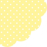 Servietten - Rund Dots yellow
