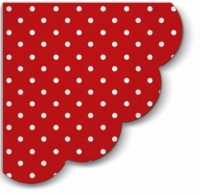 Servietten - Rund Dots red