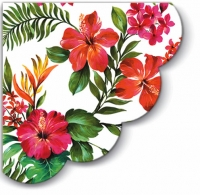 Servietten - Rund Hawaiian Flowers