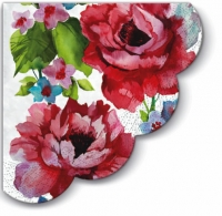 Servietten - Rund Watercolor Roses - 3-lagig