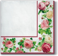 Lunch Servietten Rosy Frame (white)
