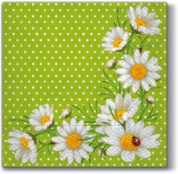 Lunch Servietten Bunchof Marguerities (green)