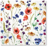 Servietten 33x33 cm - Field of Flowers