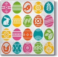 Lunch Servietten Easter Stamps