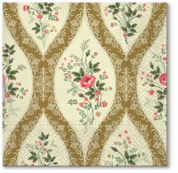 Napkins 33x33 cm - Wallpaper with Flowers gold