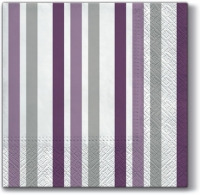 Lunch Servietten Only Stripes (violet)