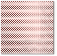 Napkins 33x33 cm - Small Dots (red)