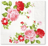 Servietten 33x33 cm - Roses Composition pink