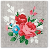 Lunch Servietten Flowers On Linen