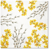 Napkins 33x33 cm - Catkins and Forsythia