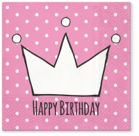 Servietten 33x33 cm - Prinzessin Party