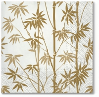Servietten 33x33 cm - Bamboo Forest gold