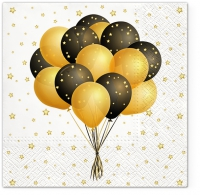 Servietten 33x33 cm - Flying Balloons
