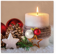 Servietten 33x33 cm - Holiday Candle