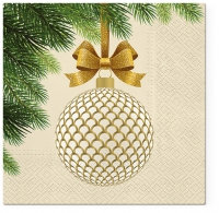Servietten 33x33 cm - Golden bauble