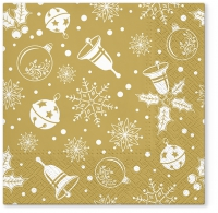 Servietten 33x33 cm - Xmas time gold