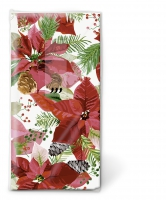 handkerchiefs - TT Shiny poinsettia