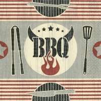 Servietten 25x25 cm - Five star BBQ