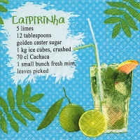 Cocktail Servietten Caipirinha