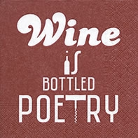 Cocktail Servietten Bottled poetry red