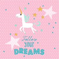 Servietten 25x25 cm - Follow your dreams