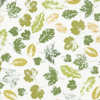 Servietten 25x25 cm - Stamped leaves