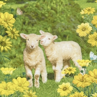 Servietten 25x25 cm - Easter twins