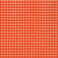 Servietten 24x24 cm - Vichy orange