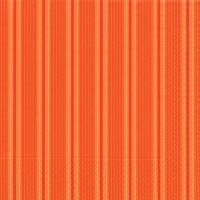 Cocktail Servietten Unique stripes orange