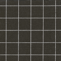 Servietten 33x33 cm - Home square black
