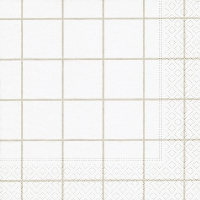 Servietten 33x33 cm - Home square white/beige