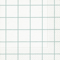 Servietten 33x33 cm - Home square white/aqua