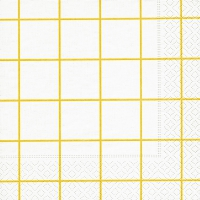 Servietten 33x33 cm - Home square white/yellow